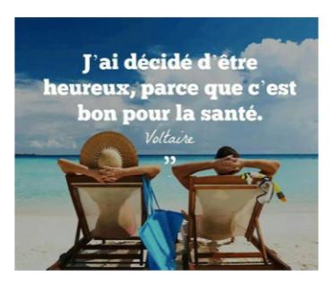 Il faut décider d'être heureux